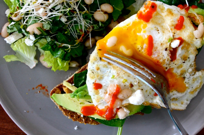 an open-faced egg sandwich // kitschandcamera.com